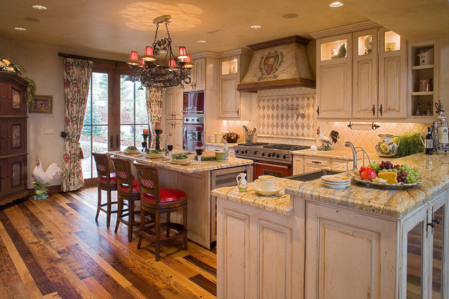 Country French Cottage Traditional Kitchen Salt Lake City by