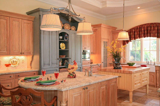 Country French Estate traditional kitchen
