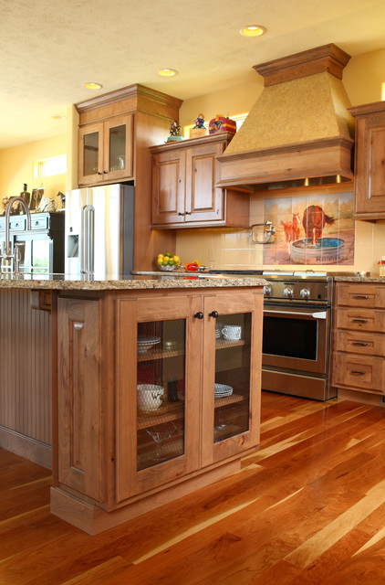 Country Kitchen - Rustic Beech traditional-kitchen