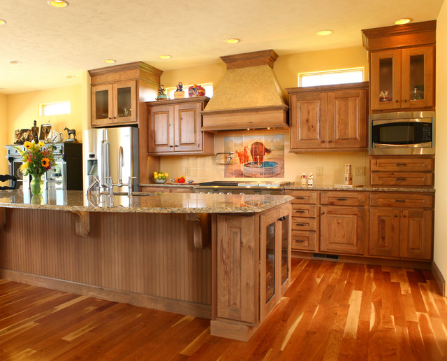 Country Kitchen Rustic Beech Traditional Kitchen
