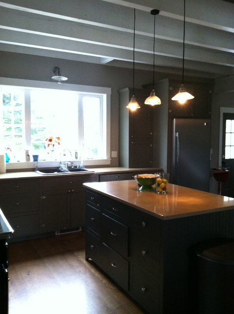 Country kitchen turned urban contemporary-kitchen