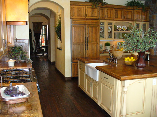 Country Kitchen With Whimsy - Rustic - Kitchen - Denver - by Kitchens by Wedgewood