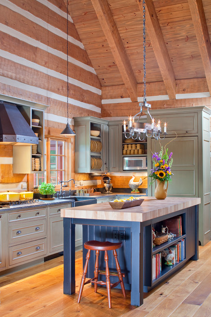 Country Retreat - Traditional - Kitchen - DC Metro - by Rill Architects