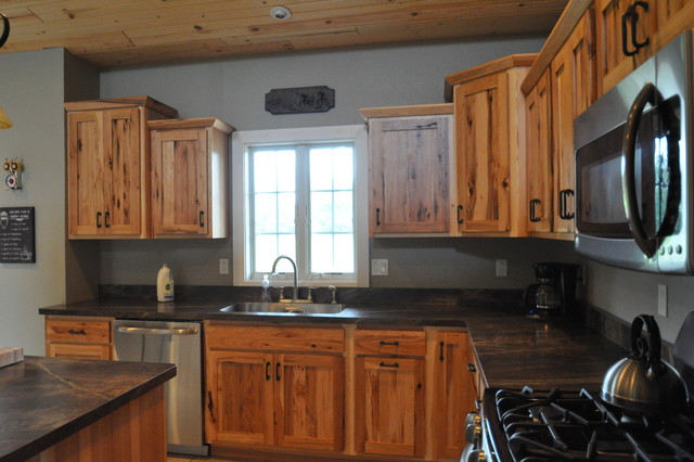 Country Style Rustic Hickory Farmhouse Kitchen Chicago Someone The Inc