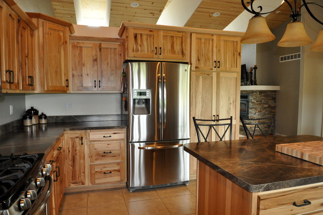Rustic Farmhouse Kitchen country style rustic hickory - farmhouse - kitchen - chicago -