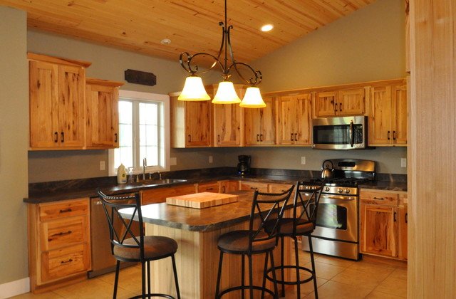 Kitchen Wall Colors With Hickory Cabinets