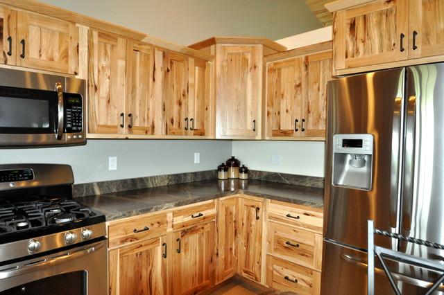 Country Style Rustic Hickory - Farmhouse - Kitchen ...