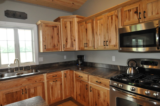 Country Style Rustic Hickory Farmhouse Kitchen Chicago