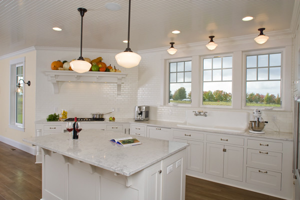 Country White Kitchen - Traditional - Kitchen - other metro - by ...