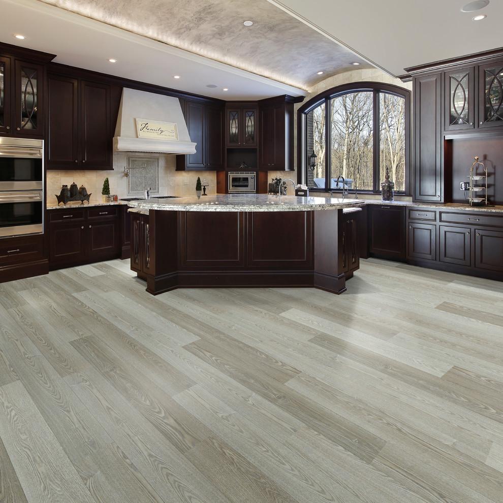 Courtier Premium Vinyl Plank Collection Kaiser Oak Midcentury Kitchen Los Angeles By Hallmark Floors Houzz