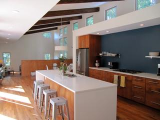 Courtyard House modern-kitchen