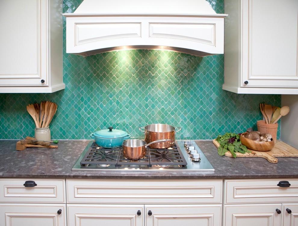 Kitchen - mediterranean kitchen idea in New York