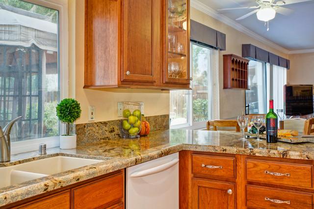 Cozy cherry kitchen traditional kitchen san diego for Miramar kitchen and bath