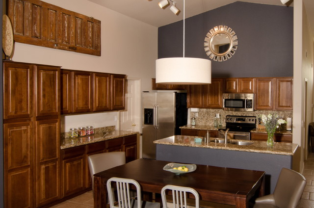 Cozy Family Space traditional-kitchen