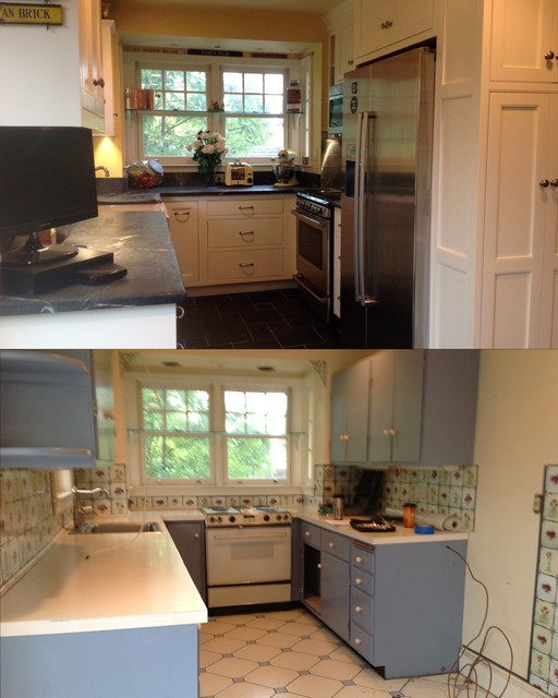 Brindle before and after small kitchen remodel for Small kitchen remodel before and after