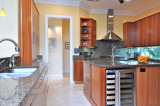 Cozy Modern Cherry traditional-kitchen
