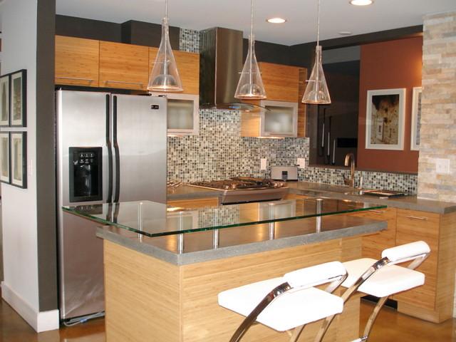 Condo 3 contemporary-kitchen
