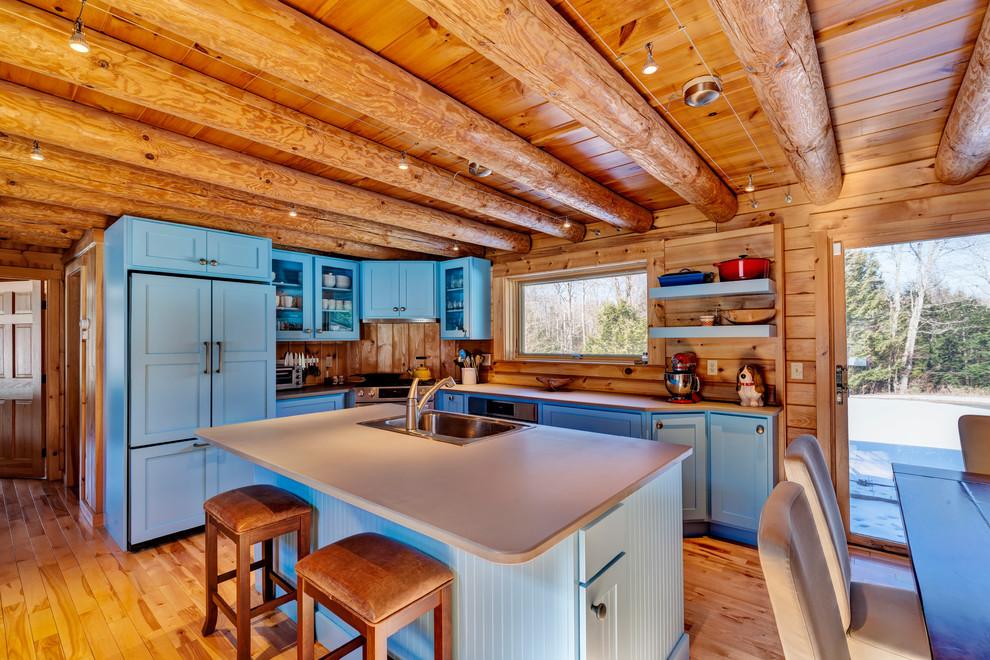 Cozy Woodstock VT Log Cabin - Rustic - Kitchen ...