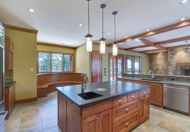 Craftsman classic craftsman kitchen dallas by for Craftsman classic