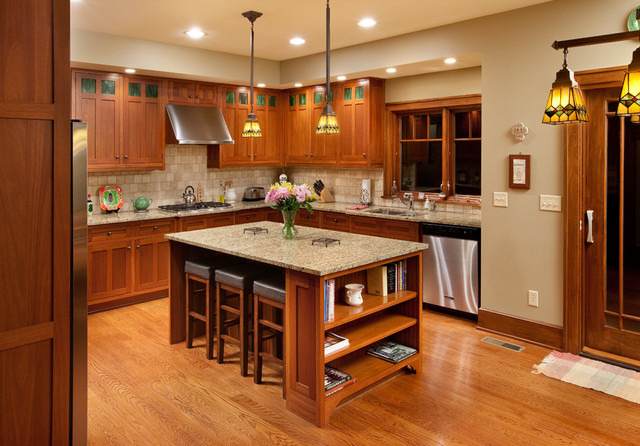 Arts And Crafts Kitchen Design Ideas ~ Craftsman home kitchen columbus by