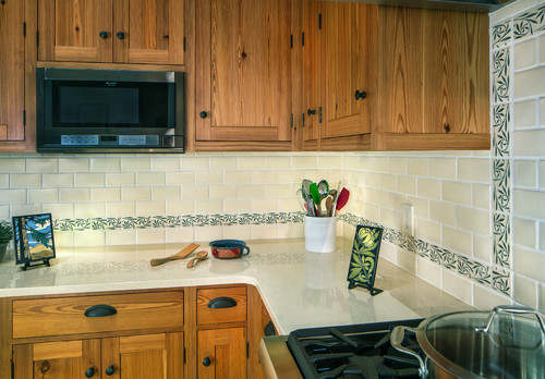 Use wrought iron hardware in your craftsman kitchen