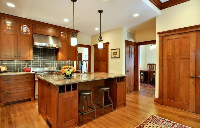 Craftsman Inspired Kitchen Craftsman Kitchen Dallas By