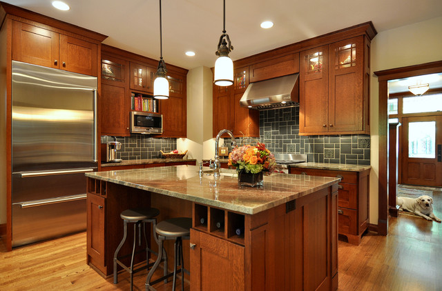 Craftsman Inspired Kitchen traditional kitchen