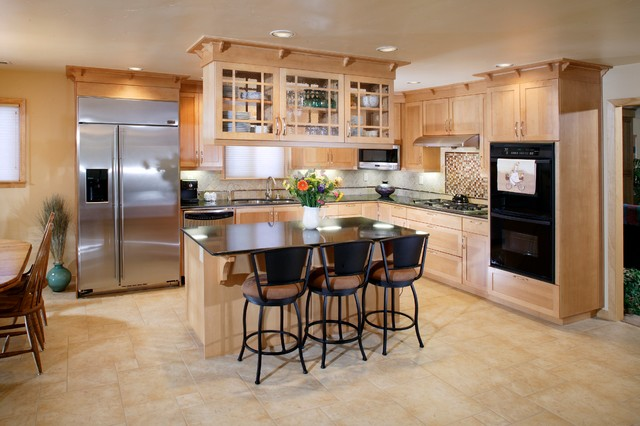 Craftsman Kitchen And Family Room Remodel Traditional