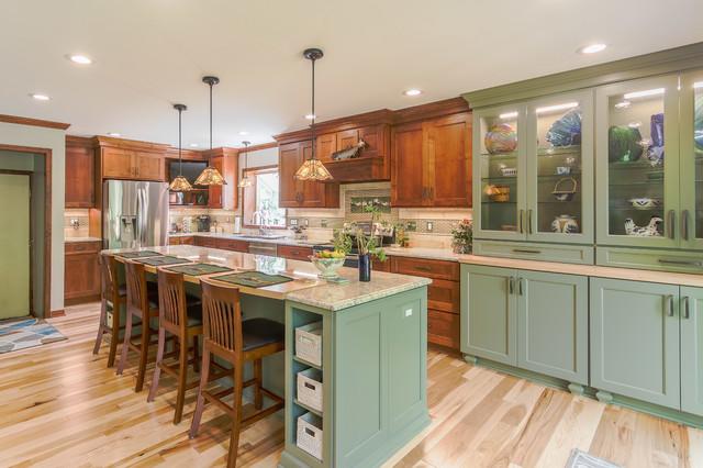 Craftsman Kitchen In Farmington Mi American Craftsman Kuche Von Dream Kitchens Houzz