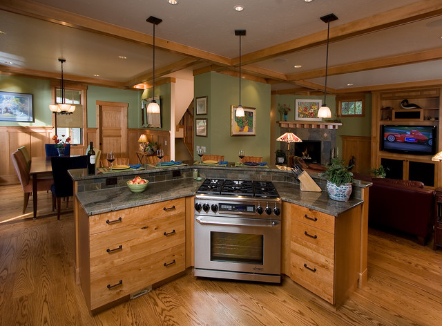 Craftsman Style Home traditional-kitchen