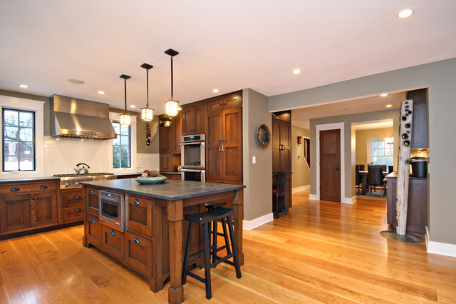 Craftsman Style Home Chicago Modern Kitchen Chicago