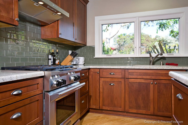 Craftsman Style Kitchen Bonita Traditional Kitchen