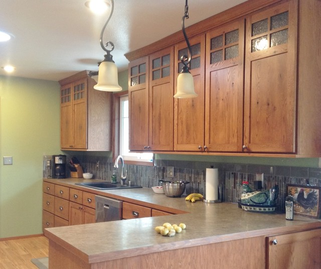 Kitchen Cabinets In Seattle: Craftsman Style Kitchen In Rustic Oak
