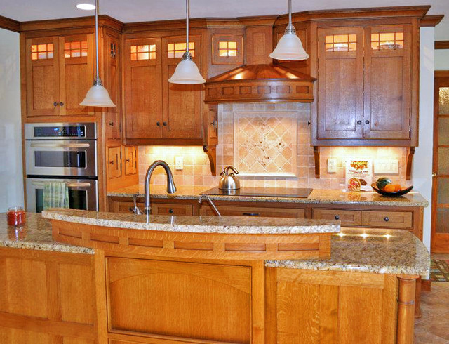Craftsman Style Kitchen Traditional Kitchen By Kustom Home Design