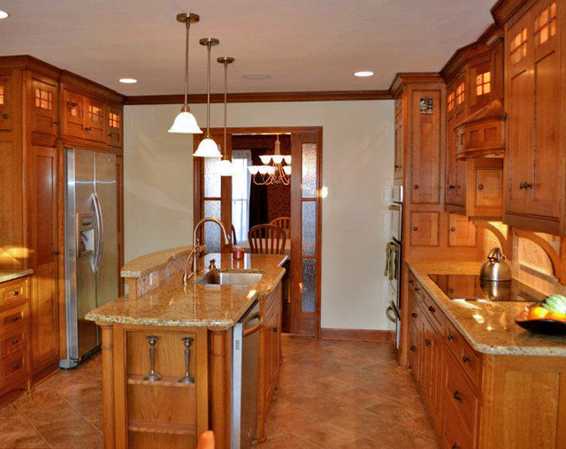 craftsman style kitchen traditional kitchen by