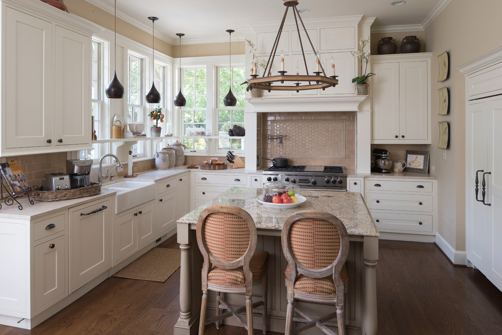 Craftsman Style Kitchen That Resulted In Outdoor Living Space Farmhouse Kitchen Indianapolis By Corinthian Fine Homes