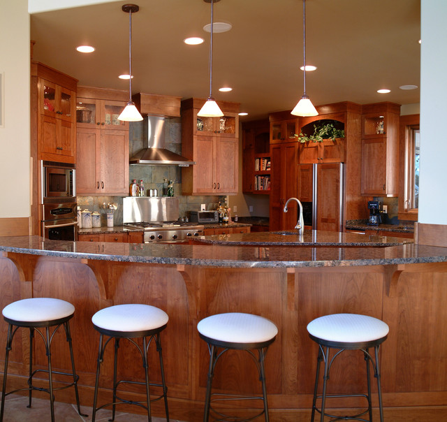 Kitchen Remodel Cherry Cabinets: Craftsman Style Kitchen With Cherry Cabinets