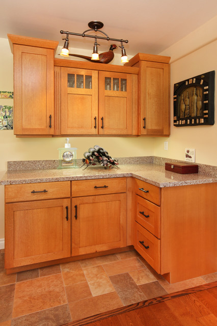 Craftsman Styled Huntington Beach Bungalow Remodel traditional-kitchen
