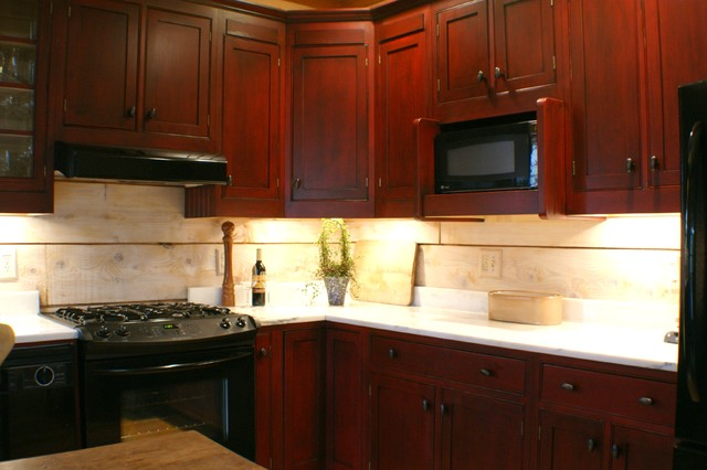 Cranberry Refinished Cabinets