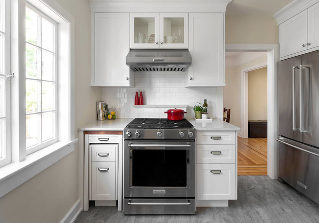 A Pullout Countertop Adds Function To
