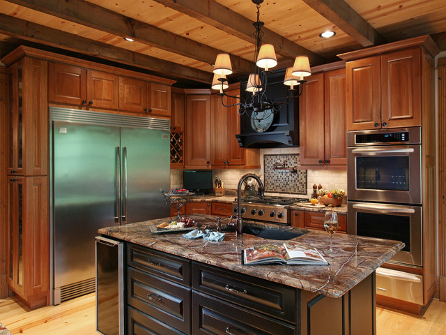 Crazy fox lodge traditional kitchen atlanta by for Crazy kitchen ideas