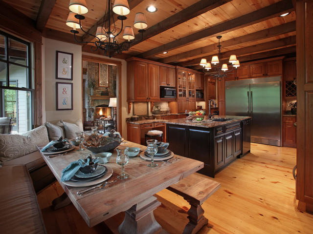 Crazy fox lodge traditional kitchen atlanta by for Traditional rustic kitchen