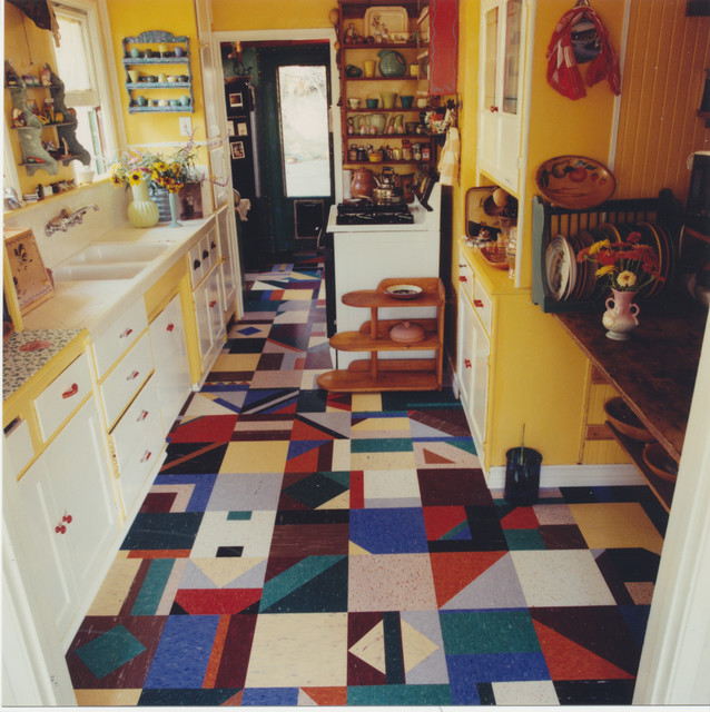 Crazy Quilt Traditional Kitchen