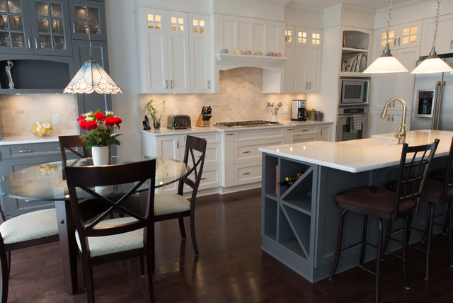 Cream And Grey Kitchen Traditional Kitchen Ottawa
