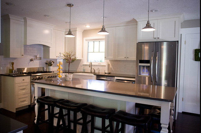 Cream and grey kitchen traditional kitchen salt lake city by
