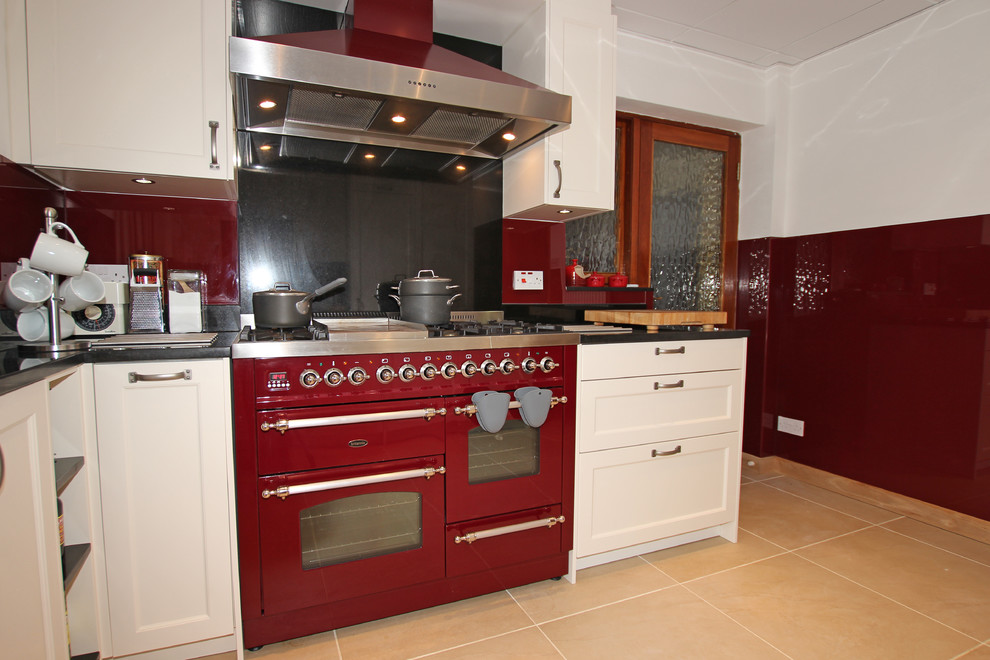Cream And Red Country Kitchen Farmhouse Kitchen London By Lwk London Kitchens