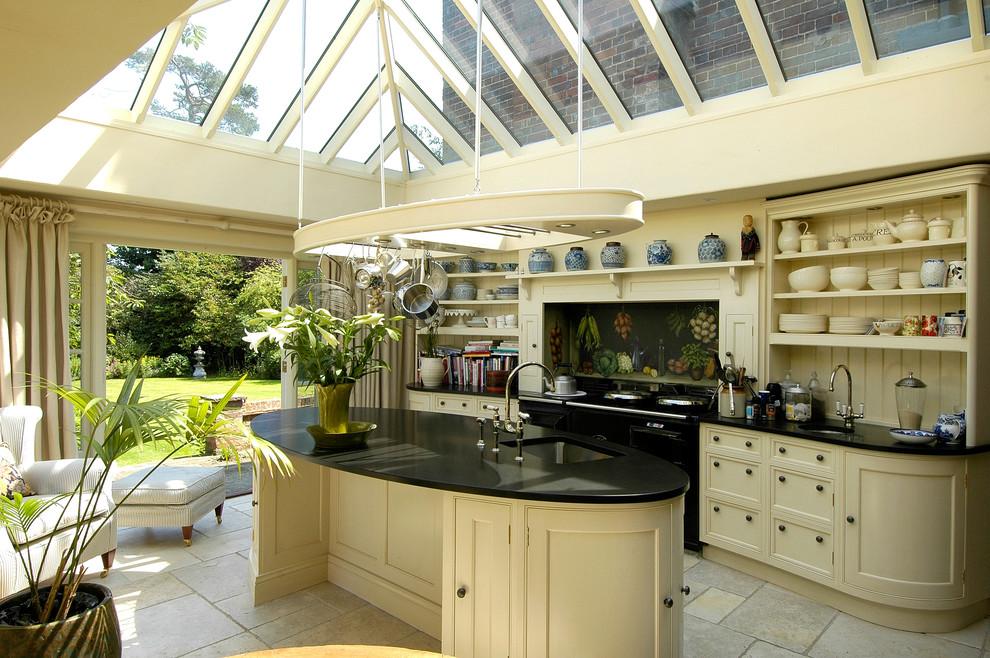 Cream Country Kitchen Chesham Traditional Kitchen Hertfordshire By Fine Fitted Interiors Houzz