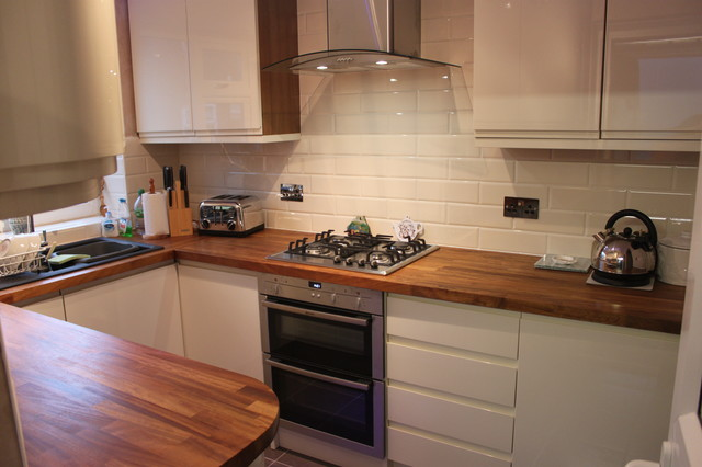 cream gloss finished kithcen - Modern - Kitchen - Other ...