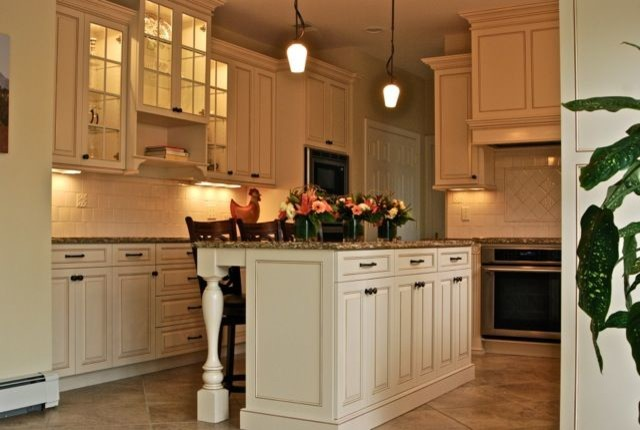 Cream Kitchen with Chocolate Glaze traditional kitchen
