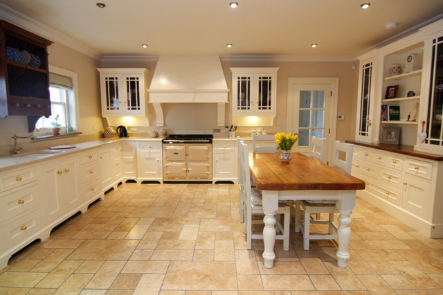 cream painted country kitchen - country - kitchen - other -liam
